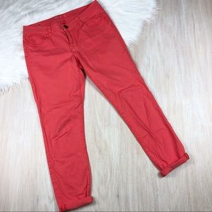 CAbi Pigment Lobster Coral Skinny Jeans 8